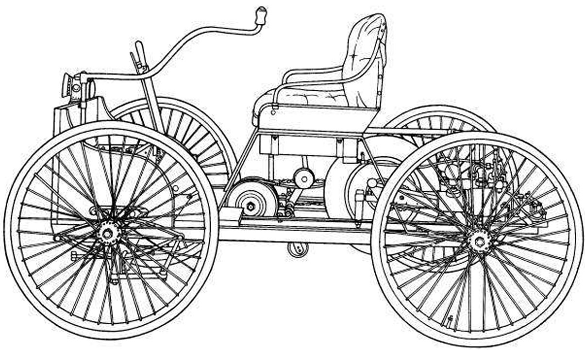 Ford Quadricycle Line Drawing